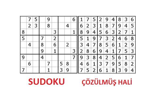 sudoku örneği